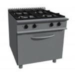 cucina gas 4 fuochi forno elettrico