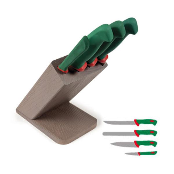 Ceppo con 4 coltelli Obliquo colore 2