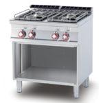 Cucina a Gas Quattro Fuochi a giorno