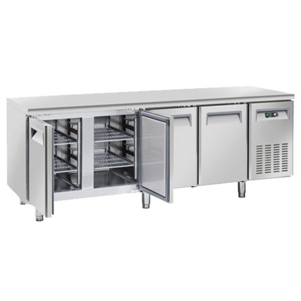 Tavolo Freezer Congelatore BT, Lt 485, Quattro Porte -18°C -22°C, Profondo 600 mm